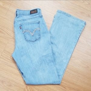 Levi's 515 Bootcut light wash mom jeans size 8 K12